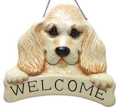 FREE SHIP RETIRED & RARE BIG SKY CARVERS BEARFOOTS COCKER SPANIEL WELCOME SIGN