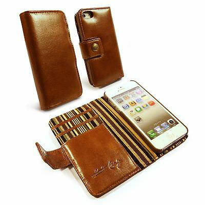 Alston Craig Vintage Genuine Leather Wallet Case Cover & Screen for Smartphones