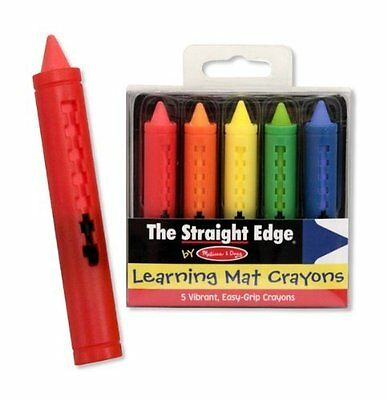 "New!! Melissa & Doug Learning Mat Crayons "" The Straight Edge"" - Free Shipping!!"