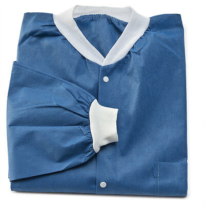 Lightweight Disposable Medical Lab Coats Small 10 pk