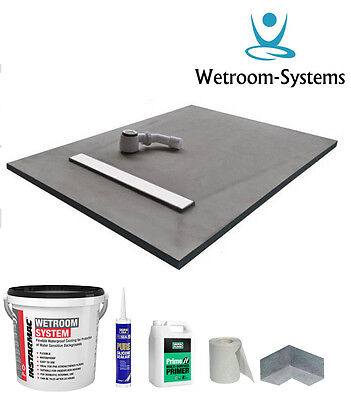 Wet room & wetroom kit shower tray & Instarmac Kit All Linear sizes