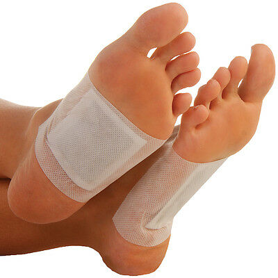 NEW (Set/10) Magnetic Detox Salt Patches For Feet - 100% Natural And Drug Free