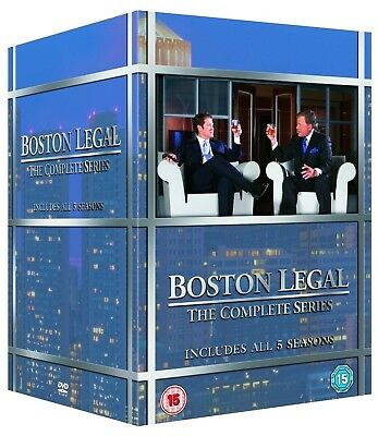 BOSTON LEGAL 1-5 (2004-2009): The COMPLETE TV Season Series - NEW R2 DVD not US