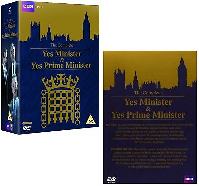 YES MINISTER + YES PRIME MINISTER : COMPLETE Both TV Series - R2 DVD not US