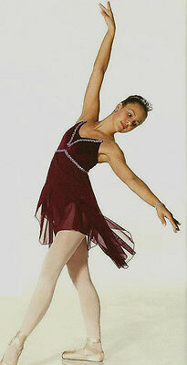Gloria Dance Costume Lyrical Ballet Camisole Ice Skating Clearance CM,CL,AXS,CXL