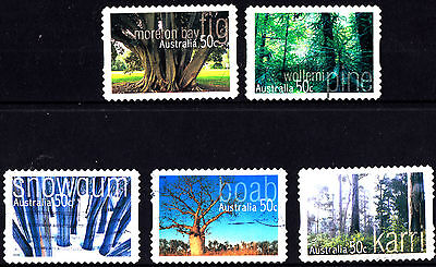 Australia 2005 Australian Native Trees Complete Set of Stamps S/A P Used