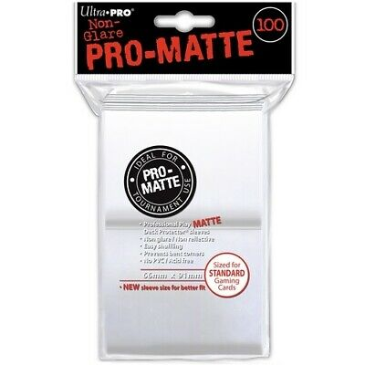 Ultra Pro 100 Pro Matte Standard Deck Protector Sleeves White 84513 Fit Magic