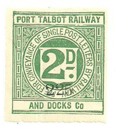 Port Talbot Railway And Docks Co 2D Railway Stamp Mint With Gum