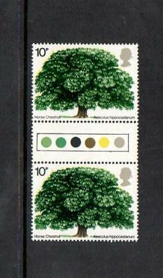 1974 Tree Traffic Light Gutter Pair Stamps Sg949 Mnh Unfolded