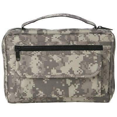 New Large CAMO BIBLE COVER Side Pocket Green Camouflage Book Case Cross Zipper