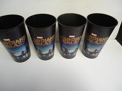 Lot of 4 Guardians of the Galaxy Movie Theater Promotional 44 oz Plastic Cup