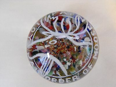Loyal Order of the Moose PAP paperweight colorful