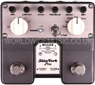 Mooer Audio Shimverb Pro Reverb / Shimmer Guitar Effects Pedal / Stomp Box