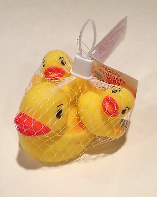 Rubber Ducky Bath Toy Party Favor Set of (3) ~1 Large & 2 Small Yellow Ducks NEW