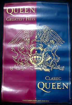 QUEEN Greatest Hits/Classic 1992 US ORG Promo Only POSTER Freddie Mercury MINTY!