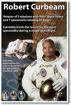 Robert Curbeam - NEW NASA African American Astronaut Space Exploration POSTER