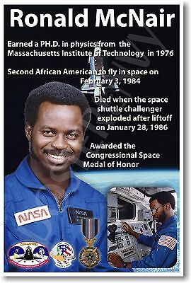 Ronald McNair - NEW NASA African American Astronaut Space Exploration POSTER