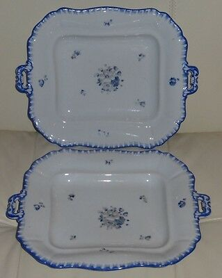 2 Antique Bohemia Pottery Trays