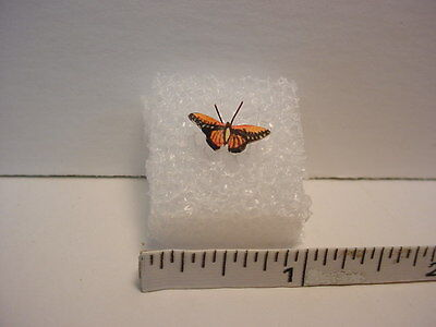 Dollhouse Artisan Morning Cloak Butterfly for Doll House Miniature Garden