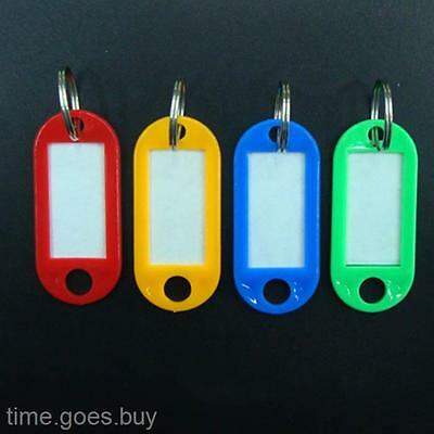 Colors Key ID Tag Label with Key Ring Name Address TEL Room Number Marker X10