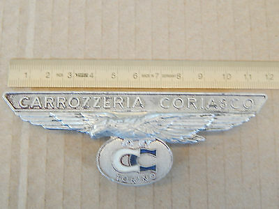 Logo Badge Originale Carrozzeria Coriasco Per Fiat Epoca
