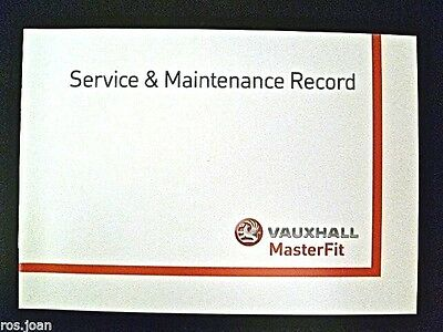 Vauxhall Service History Record Book Movano Van Models Brand New Genuine*