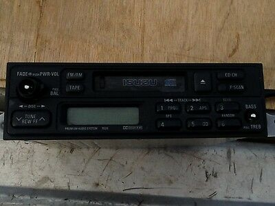 1996 Isuzu Trooper Cassette Stereo With 12 Disk Changer With Wiring Harness