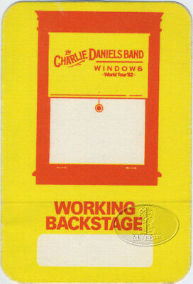 Charlie Daniels Band 1982 Windows Tour Backstage Pass