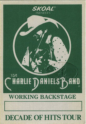 Charlie Daniels Band 1993 Tour Backstage Pass
