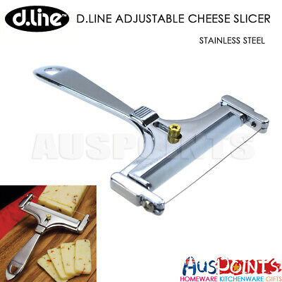 Appetito Adjustable Cheese Slicer Stainless Steel Plane Cutter Slice Knife