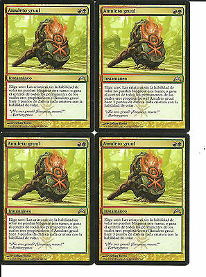 mtg Magic 4x Gruul Charm ( Amuleto Gruul )  NM- Spanish