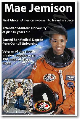Mae Jemison - NEW NASA African American Astronaut Space Exploration POSTER