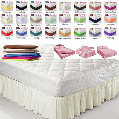 """Double Size PLATFORM VALANCE SHEET With 12 Different frill sizes 6""""-28"""""""