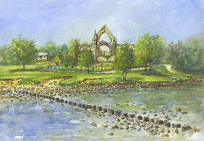 Bolton Abbey,  Hand Signed, Titled and Mounted Print with COA