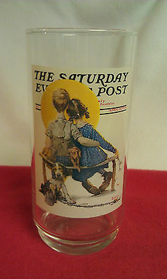 """Saturday Evening Post - """"The Spooners"""" - Arby's glass #5 of 6"""