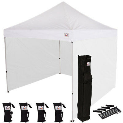 10X10 EZ POP Up Canopy Tent Instant Canopy Tent with Sidewalls Bonus Weight  Bags