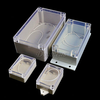 Waterproof Clear Plastic Electronic Instrument Case Project Enclosure Box Cove