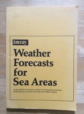 Imray - Weather Forecasts for Sea Areas - Blank pad
