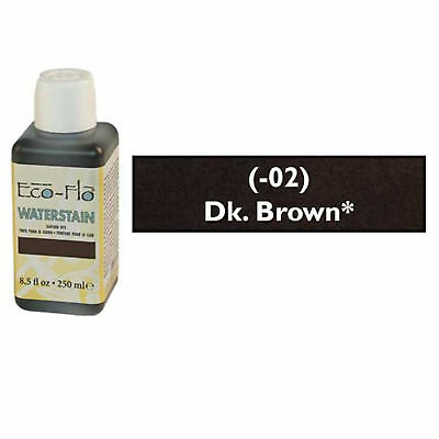 Eco Flo Professional Waterstain Dark Brown 250 ml (8.5 fl oz.) 2800-02 Tandy Dye