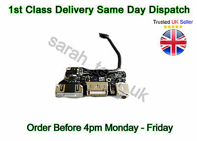 "Apple MACBOOK AIR 13"" A1466 USB/ POWER DC JACK AUDIO BOARD 2013/2014 820-3455-A"
