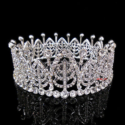 4cm High Full Crystal Luxury Wedding Bridal Party Pageant Prom Tiara Crown