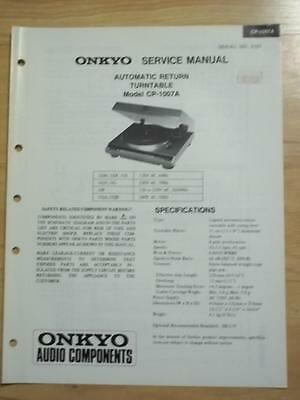 Original Onkyo Service Manual for the CP-1017A Turntable~Repair
