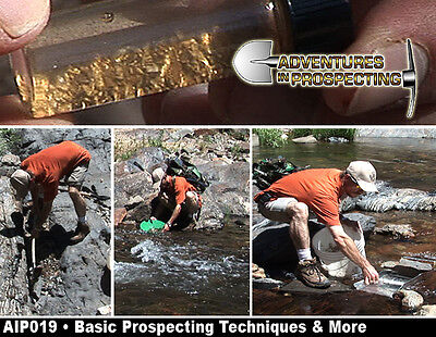 Basic Prospecting Mining Techniques instructional HOW TO FIND GOLD DVD