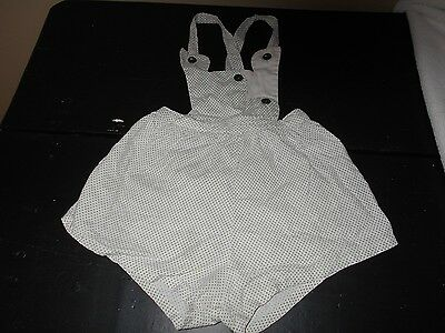 Small Child's Antique Vintage Homemade Sun Suit Or Romper