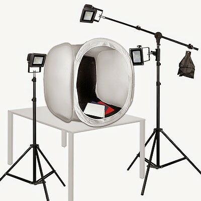 Photo Tent 30in  LED Photography Lights 150 Watts Steve Kaeser Photographic
