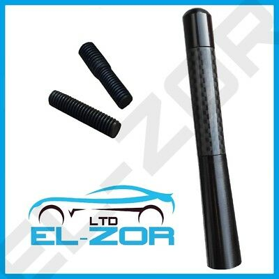 Black Carbon Car Aerial Bee Sting Mast Antenna Ariel Arial Mini Radio Stubby