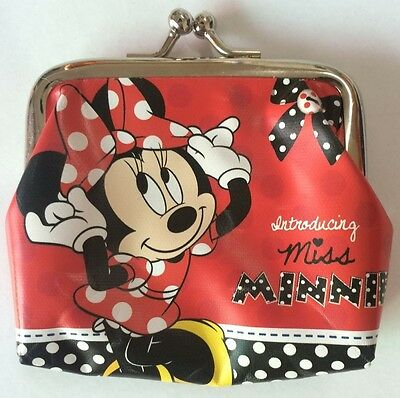 Disney Minnie Mouse Clip Coin Purse Wallet Purses