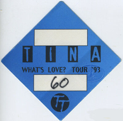 Tina Turner 1993 What's Love Backstage Pass