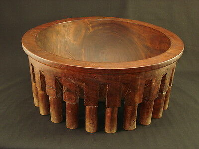 A large Samoan visi wood bowl from Daniel Crowley collection, Circa: 1920
