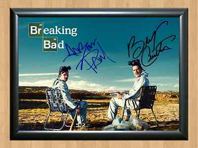 BREAKING BAD Walter Jesse Signed Autographed A4 Print Poster TV Show Series Dvd